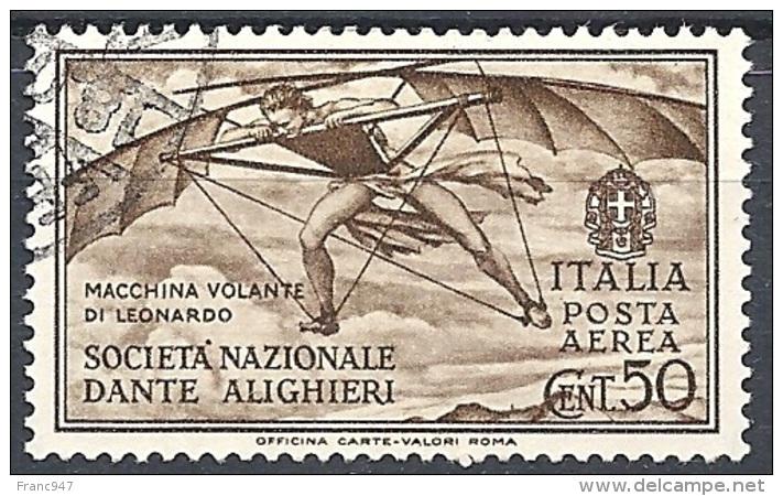 Italia, 1932 Società Dante Alighieri 50c Bruno  # USATO - Usati