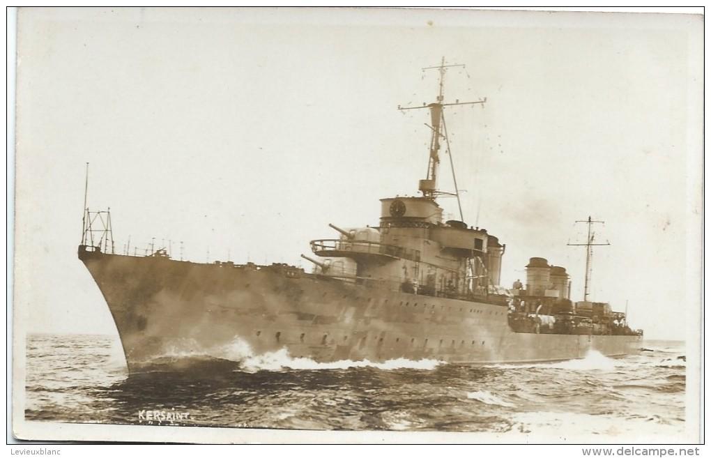"""Photographie-Carte Postale/Marine Militaire Française/""""Le KERSAINT""""/Contre-torpilleur? / Vers 1930-1950      MAR14 - Boten"""