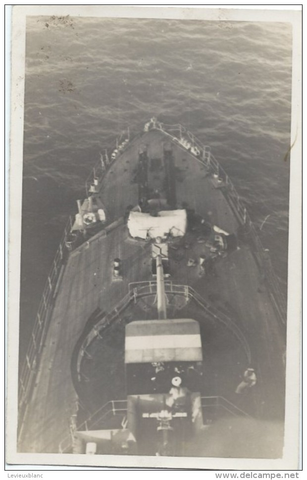 """Photographie/Amateur /Marine Militaire /En Mer /  Sur Le Pont /  """" Kersaint"""" ?/ Vers 1930-1950     MAR35 - Boten"""