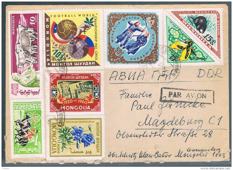Mongolia, 1961, For Magdeburg - Mongolie
