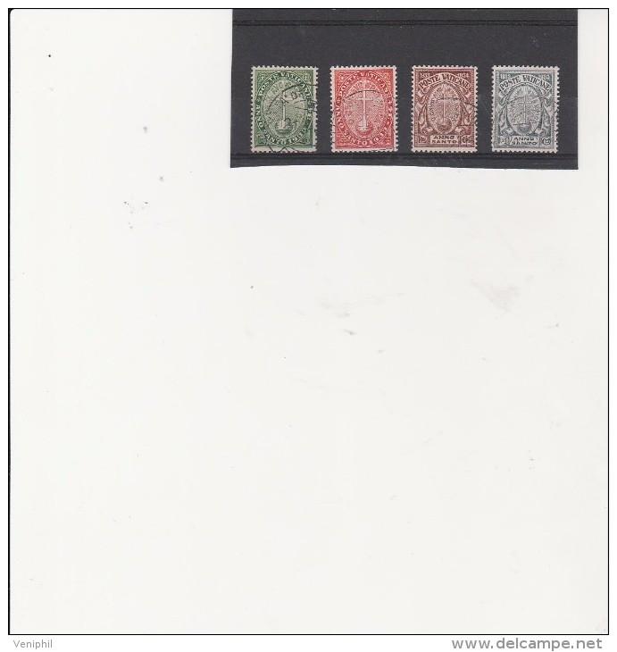 VATICAN - SERIE N° 40  A 43 OBLITERE   - ANNEE 1933- COTE : 65 € - Vatican