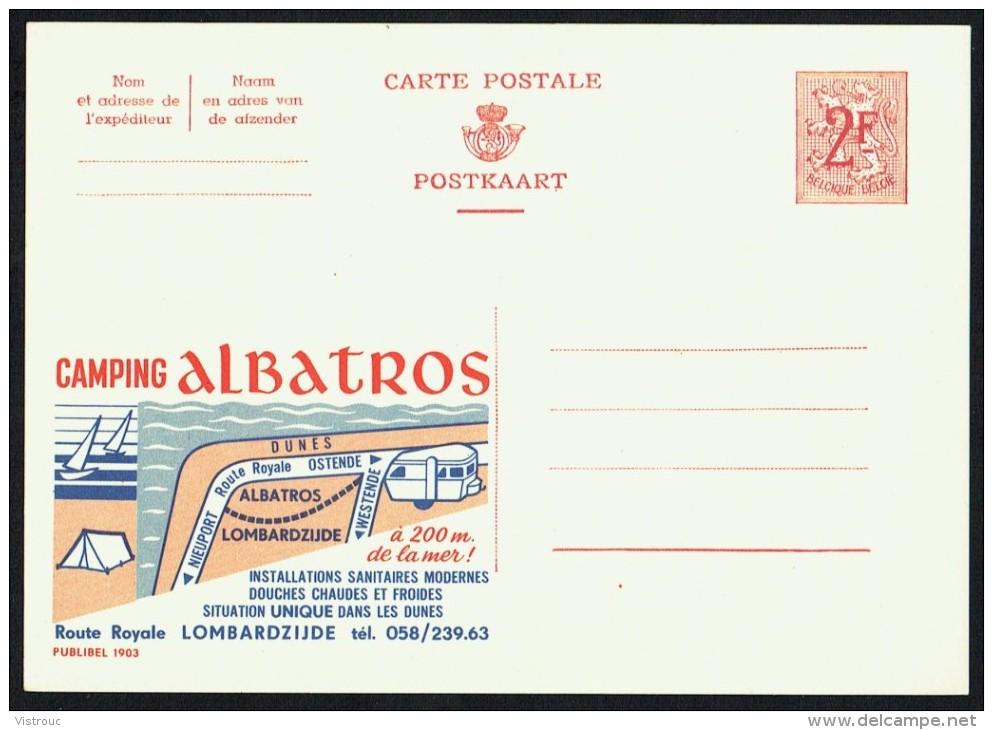 """CP Public. N° 1903 """" CAMPING ALBATROS - Lombardzijde """" - NON Circulé / Not Circulated. - Entiers Postaux"""