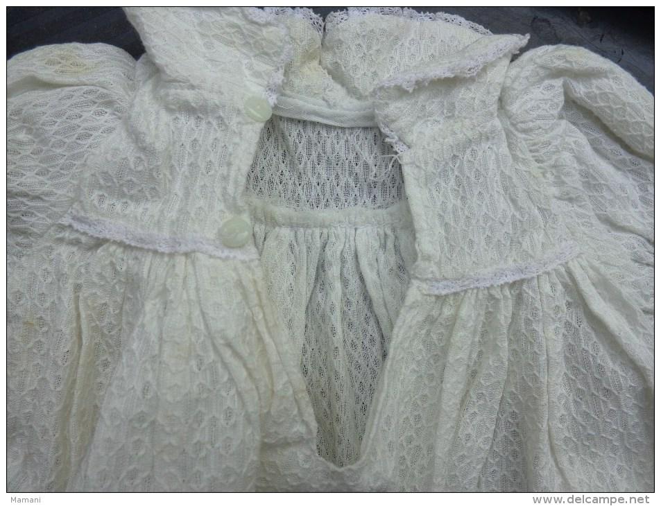 Petite Robe Po Poupee -t 40 2 Boutons En Verre Au Dos - Autres Collections