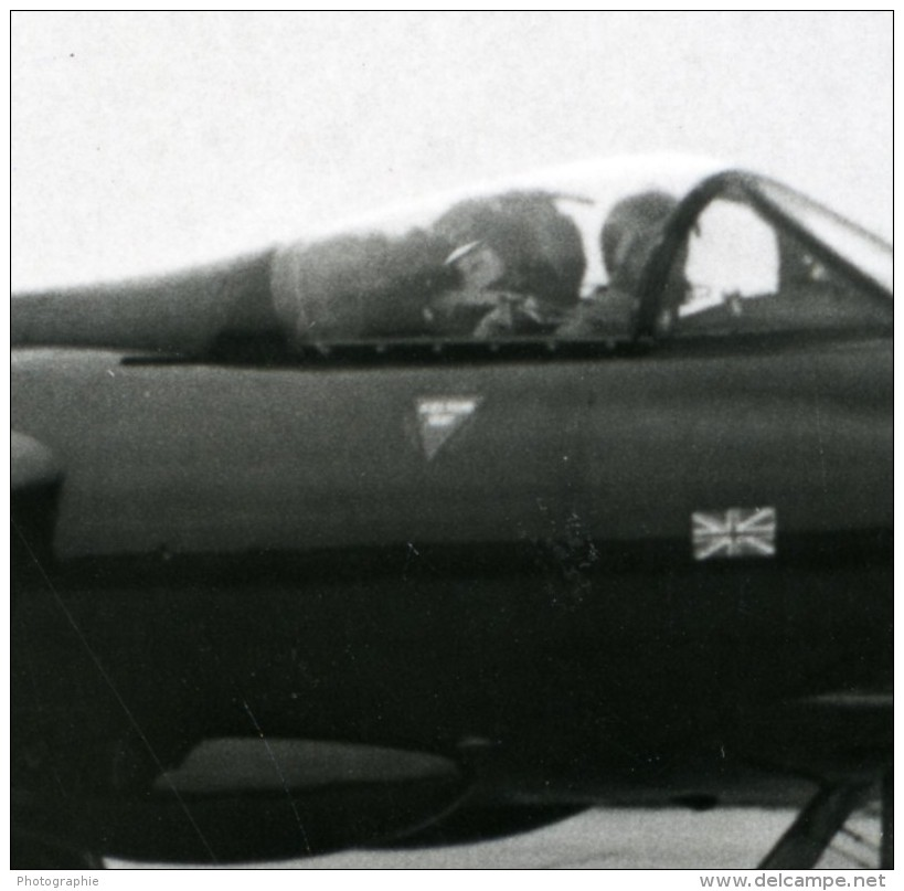 USA Avion Militaire Royal Air Force Hawker Hunter F.6 Ancienne Photo 1960 - Aviation
