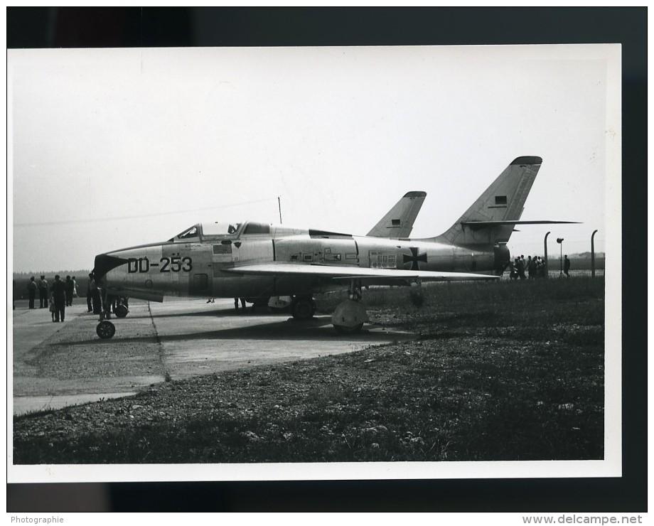 Avion Militaire Luftwaffe Republic F-84F-45-RE Thunderstreak DD+253 Aviation Ancienne Photo 1960 - Aviation