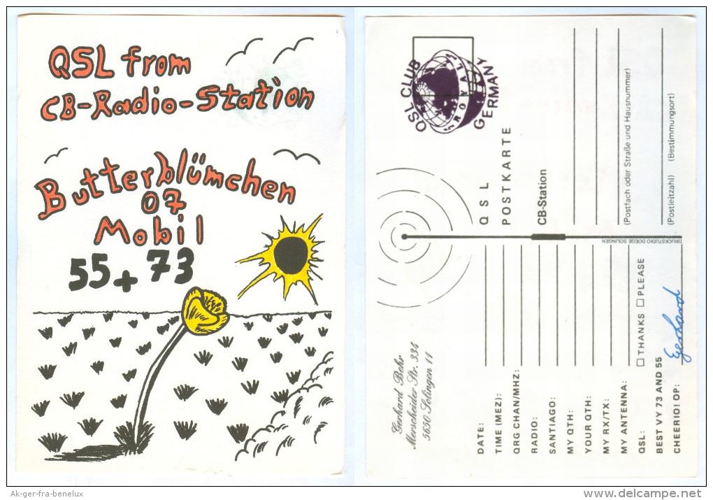 QSL-Karte 5650 Solingen CB-Radio-Station Butterblümchen 07 Merscheider Straße Nordrhein-Westfalen Funk Card Deutschland - CB-Funk