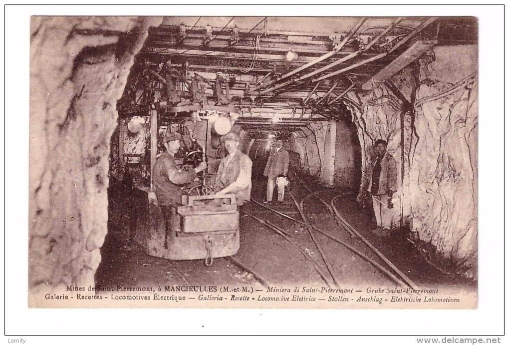 54 Saint Pierremont Mancieulles Mine Mineur Mines De Fer Galerie Recettes Locomotive Electrique - Francia