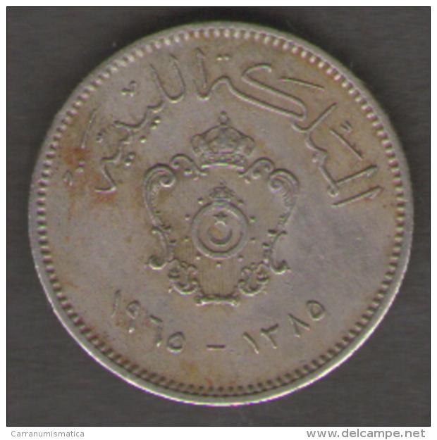 LIBIA 10 MILLIEMES 1965 - Libye
