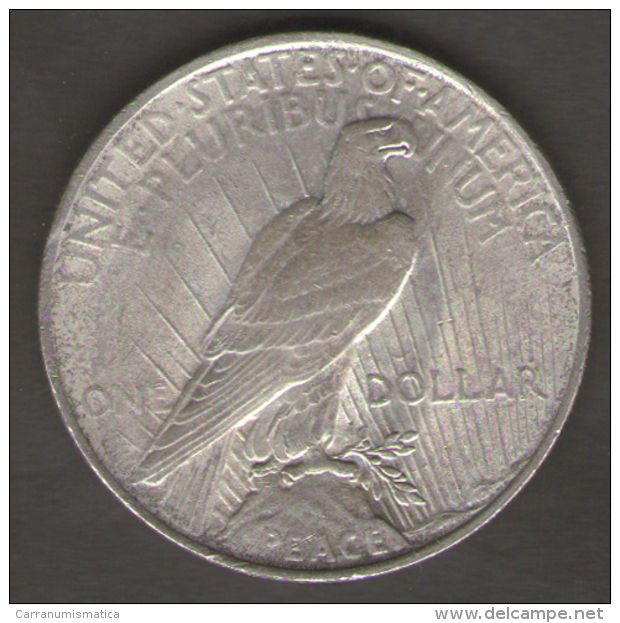 STATI UNITI ONE DOLLAR 1923 PEACE AG SILVER - Émissions Fédérales
