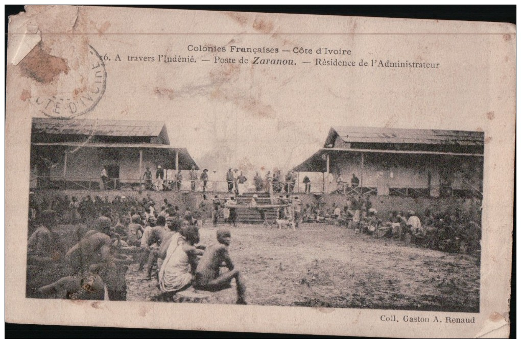 374  COTE DIVOIRE   ECRITE VERSO - Ivory Coast