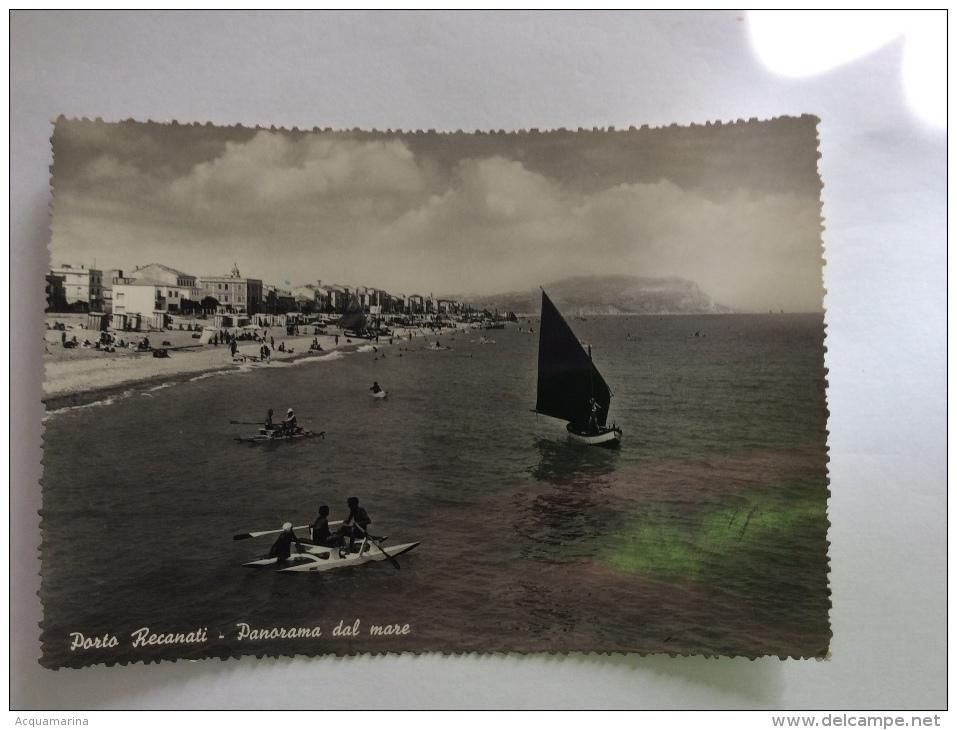 PORTO RECANATI - Panorama Dal Mare, Pattino - Cartolina FG BN V 1950 - Italia