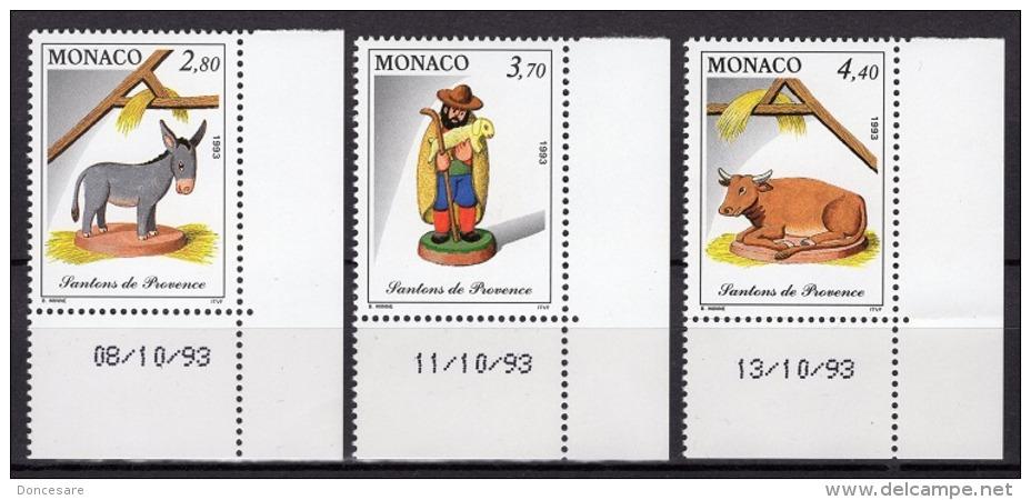 MONACO 1993 - SERIE COINS DATES N° 1912 A 1914 - 3 TP NEUFS** F25 - Monaco