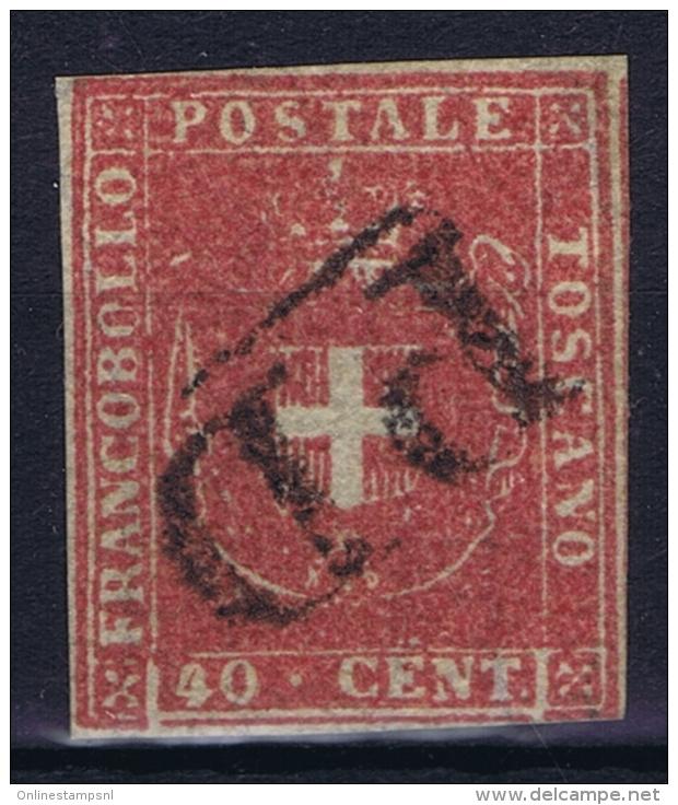 Toscana  Sa 21  Mi 21  Used Obl. 1860 Signed/ Signé/signiert/ Approvato - Toskana