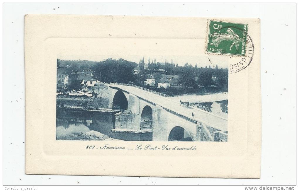 Cp , 64 , NAVARRENX , Le Pont , Vue D'ensemble , Voyagée 1909 - France