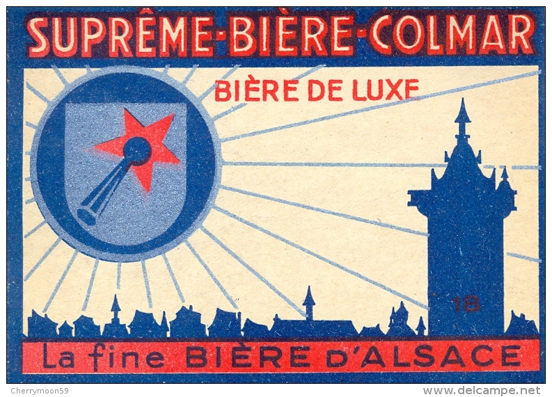 Etiquette Ancienne De SUPREME BIERE COLMAR - LA FINE BIERE D'ALSACE - Bière