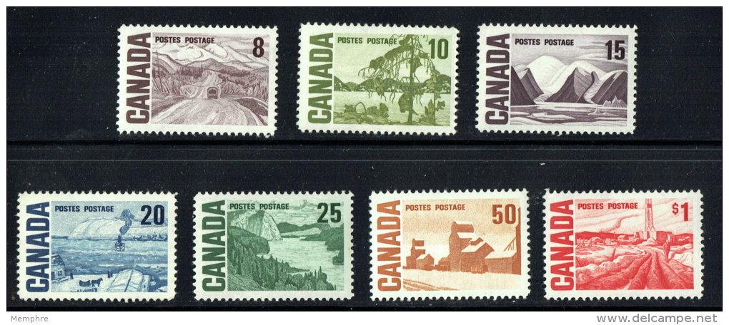 1967  Centennial High Value Definitives  Sc 461-465B  MNH - 1952-.... Règne D'Elizabeth II