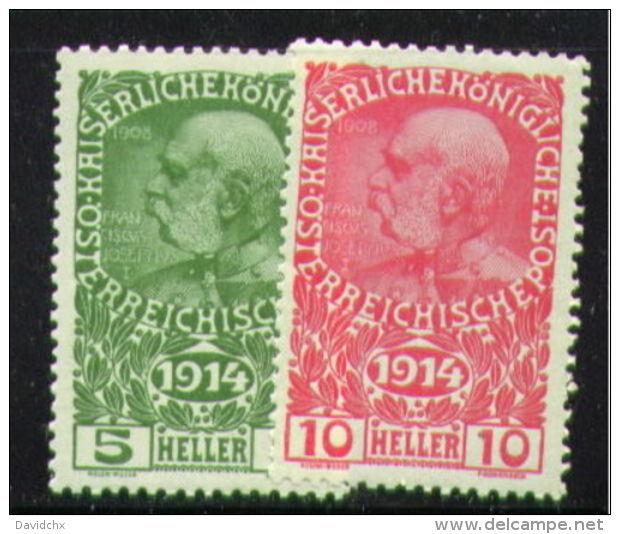 AUSTRIA, SET, NO.'S B1-B2, MNH - 1850-1918 Empire