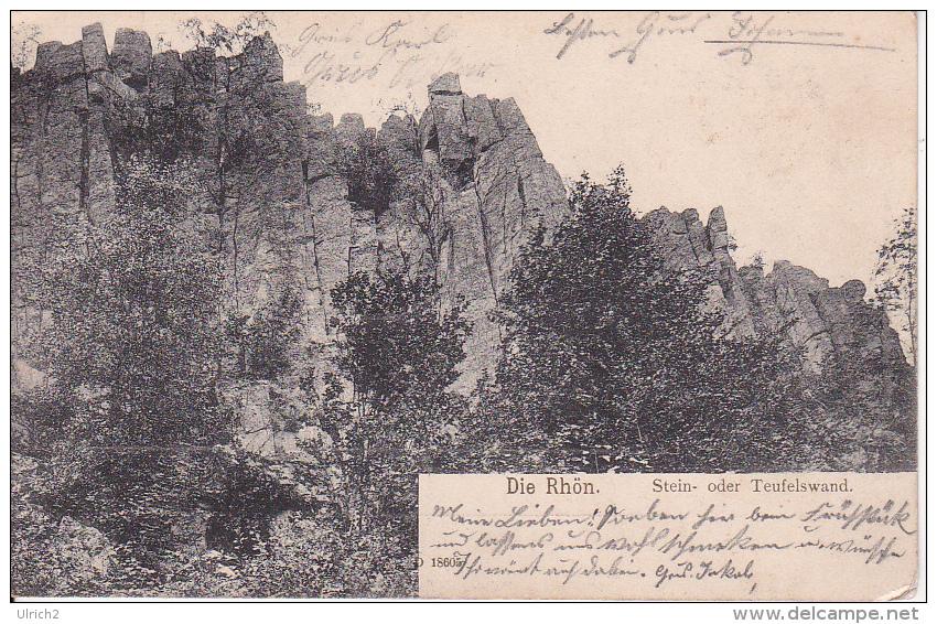 AK Die Rhön - Stein- Oder Teufelswand - 1906 (23053) - Fulda
