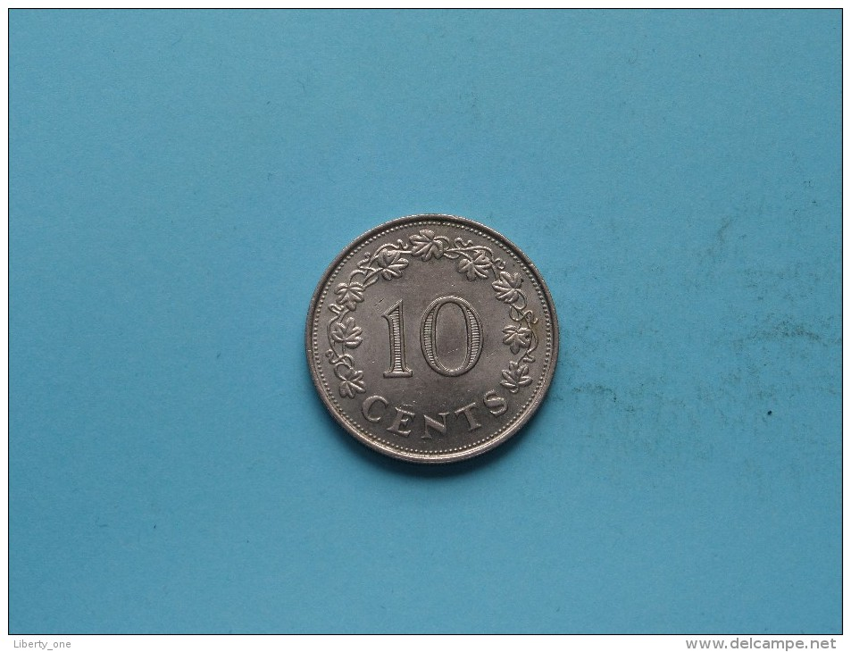 1972 - 10 Cents - KM 11 ( Uncleaned Coin / For Grade, Please See Photo ) !! - Malte