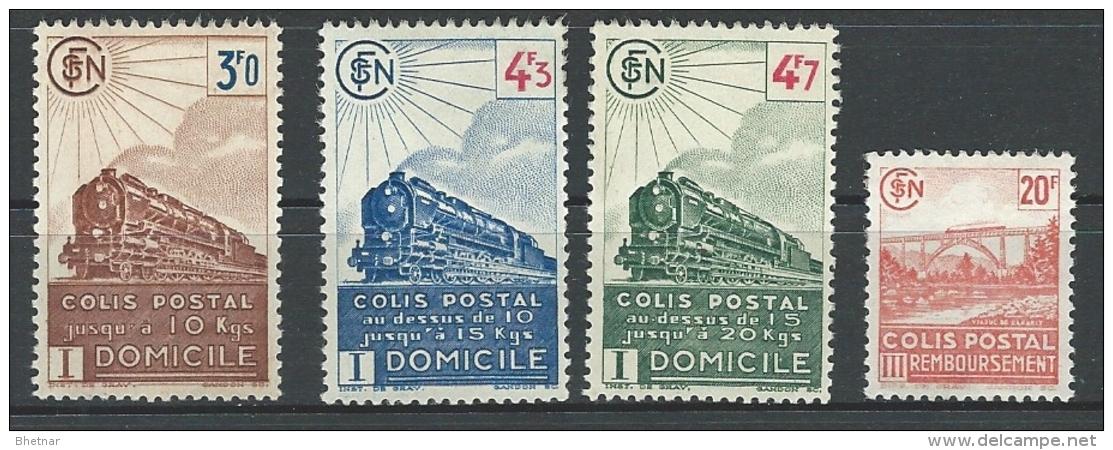 """FR Colis Postaux YT 208 à 211 """" Avec Valeurs Ss Filigrane """" 1943 Neuf* - Colis Postaux"""