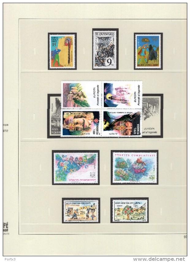 CEPT 1993 - 1997 Safe Vordruckblätter Ohne Marken - Albums & Binders
