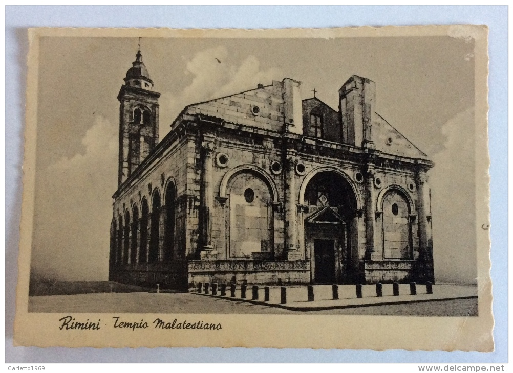 Rimini Tempio Malatesiano 1941 Viaggiata Fg - Rimini