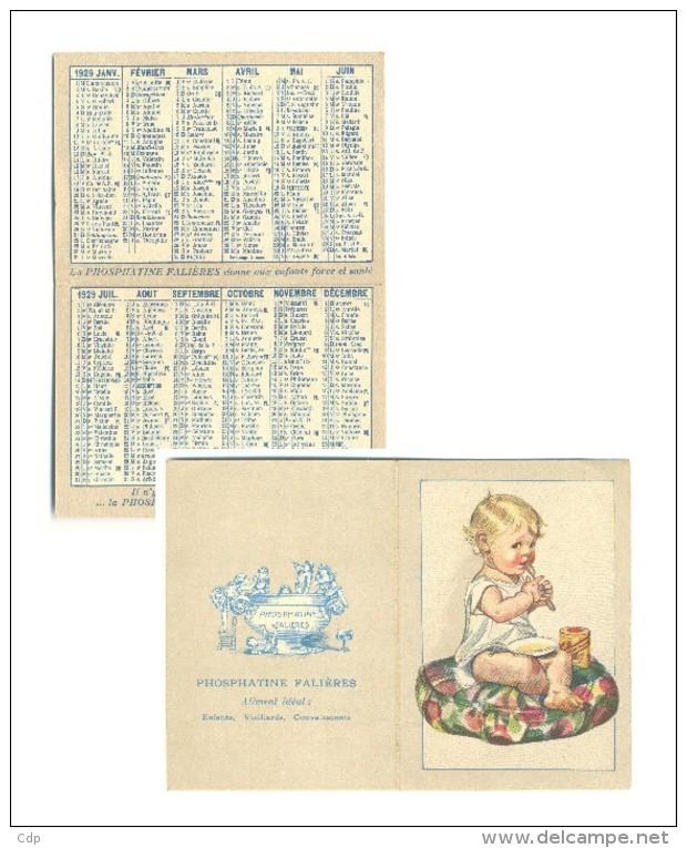 Beau Petit Calendrier 1929  Phosphatine - Calendriers