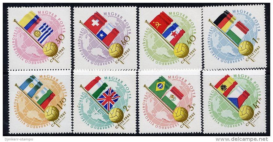 HUNGARY 1962 World Cup Football Set MNH / **.  Michel 1830-37 - World Cup