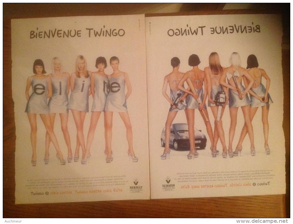 Publicité Voiture Twingo élite (1 Page Recto Verso) Femme Pin-up - Pubblicitari