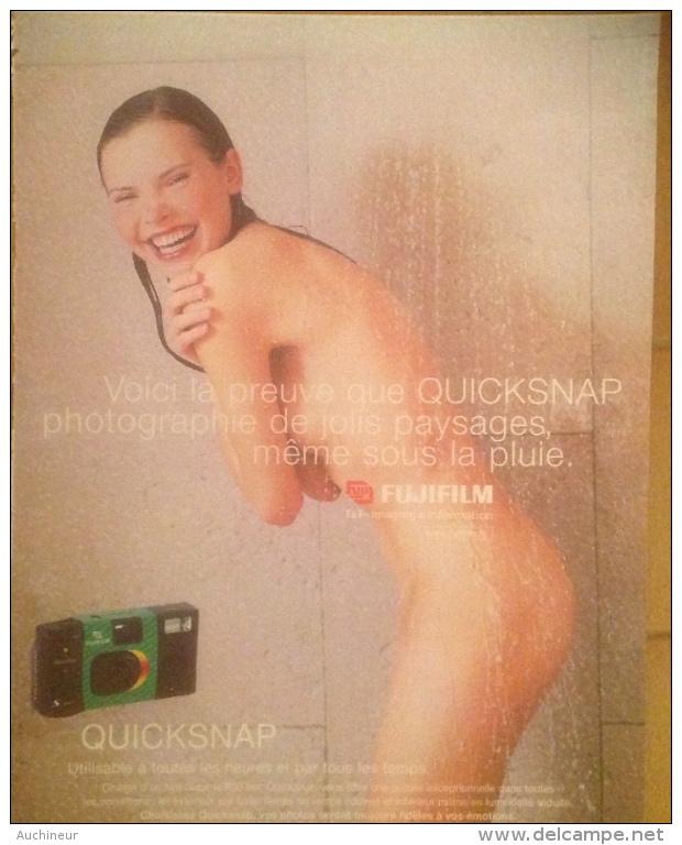 Publicité Fujifilm Quicksnap, Femme Nue Douche - Pubblicitari