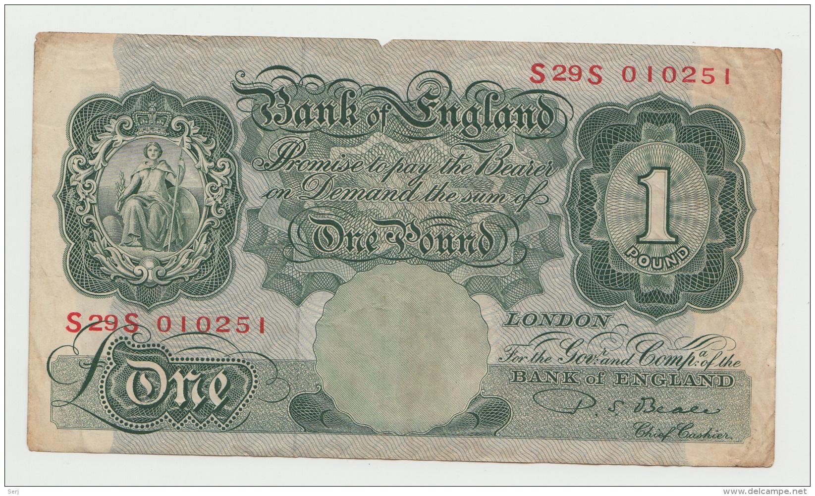 Great Britain England 1 Pound 1949 - 1955 AVF Pick 369b  369 B - …-1952 : Before Elizabeth II