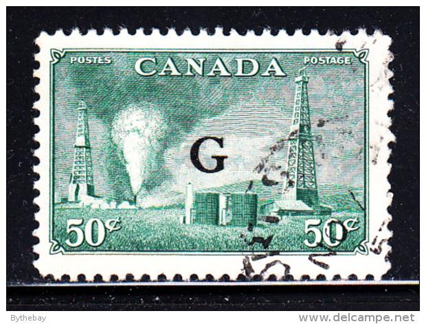 Canada Used Scott #O24 50c Oil Wells - ´G´ Overprint - Officials