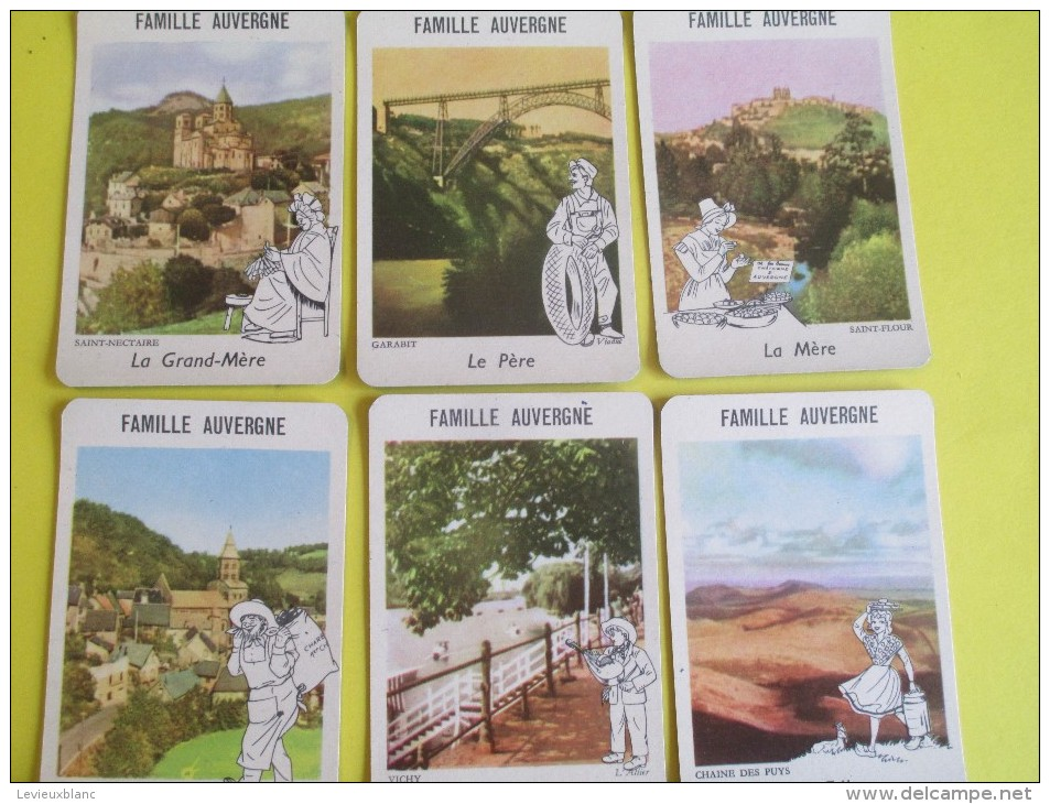 """Jeu Des 7 Familles/""""Folkloriques""""/WILLEB/Paris/ Béarn-Normandie-Languedoc-Auvergne-Bretagne-Touraine-Ile/Années 50 JE140 - Jeux De Société"""