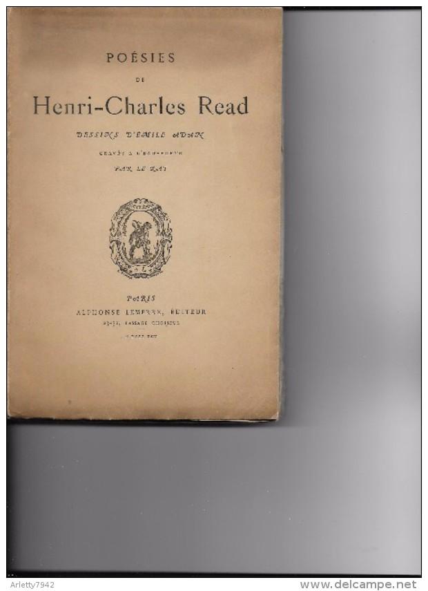 POESIES DE HENRI-CHARLES READ - Autori Francesi