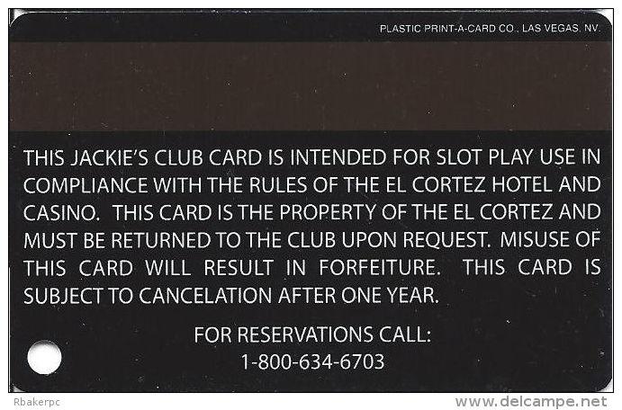 El Cortez Casino Las Vegas Slot Card (BLANK) - Casino Cards