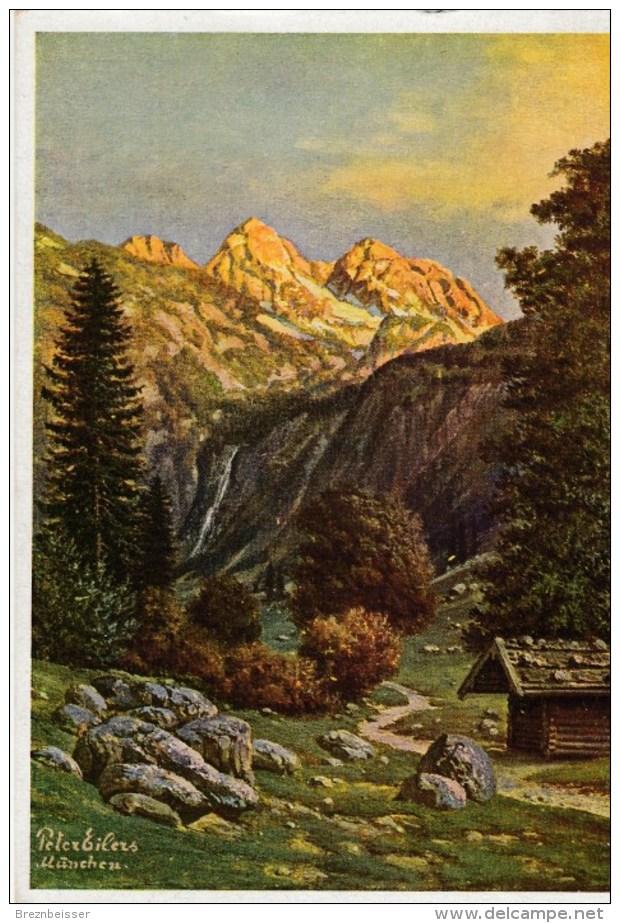 Künstler AK Peter Eilers - Weg Zum Obersee, Teufelshörner - Karte N. Gel - Künstlerkarten