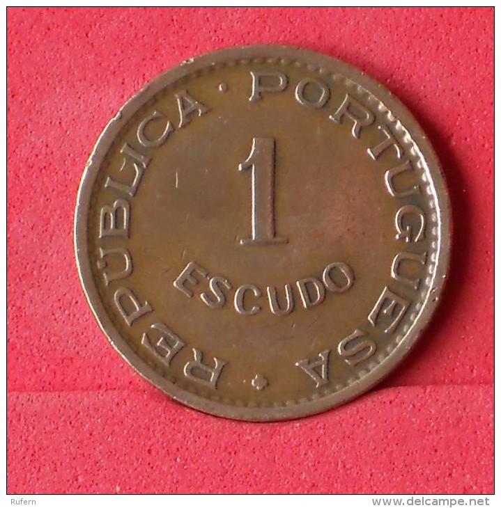 ANGOLA 1 ESCUDOS 1963 -    KM# 76 - (Nº15114) - Angola