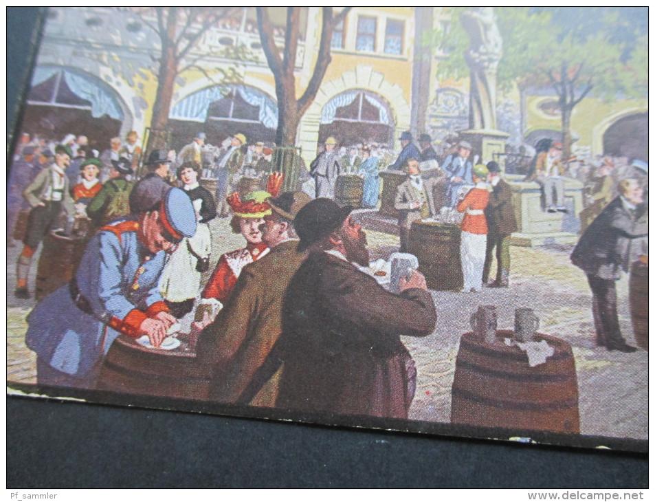 Künstlerkarte 1921 Kneiphof Im Kgl. Hofbräuhaus Zu München. Verlag Karl Mittermüller - Hotels & Gaststätten