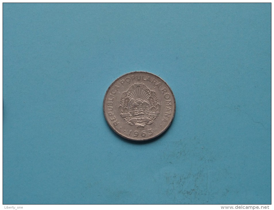 1963 - 3 LEI / KM 91 ( Uncleaned - For Grade, Please See Photo ) ! - Roumanie