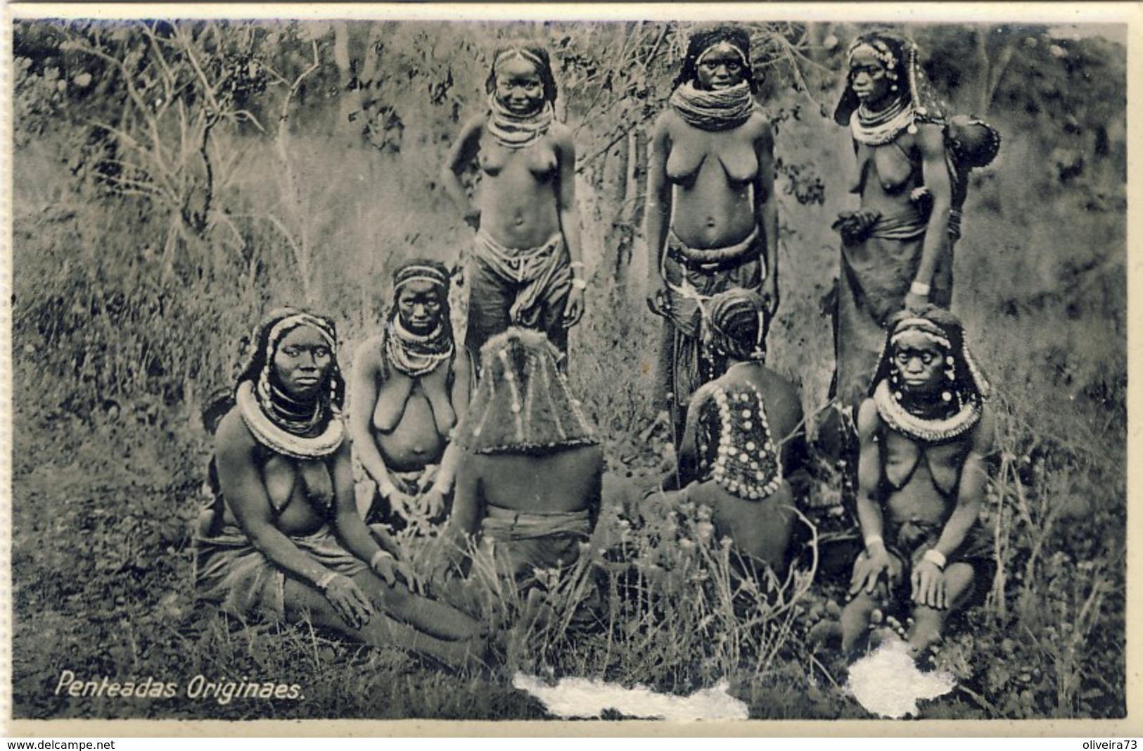 GUINÉ, BISSAU, Penteadas Originaes (NU, NUS), 2 Scans - Guinea-Bissau