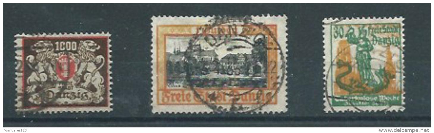 Danzig MiNr. 145, 90, 212 - Abstimmungsgebiete