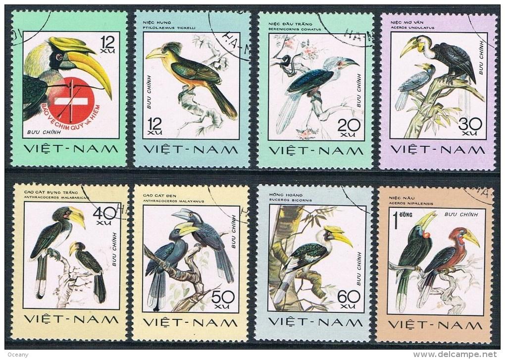Vietnam - Oiseaux Rares 40/47 Oblit. - Oiseaux
