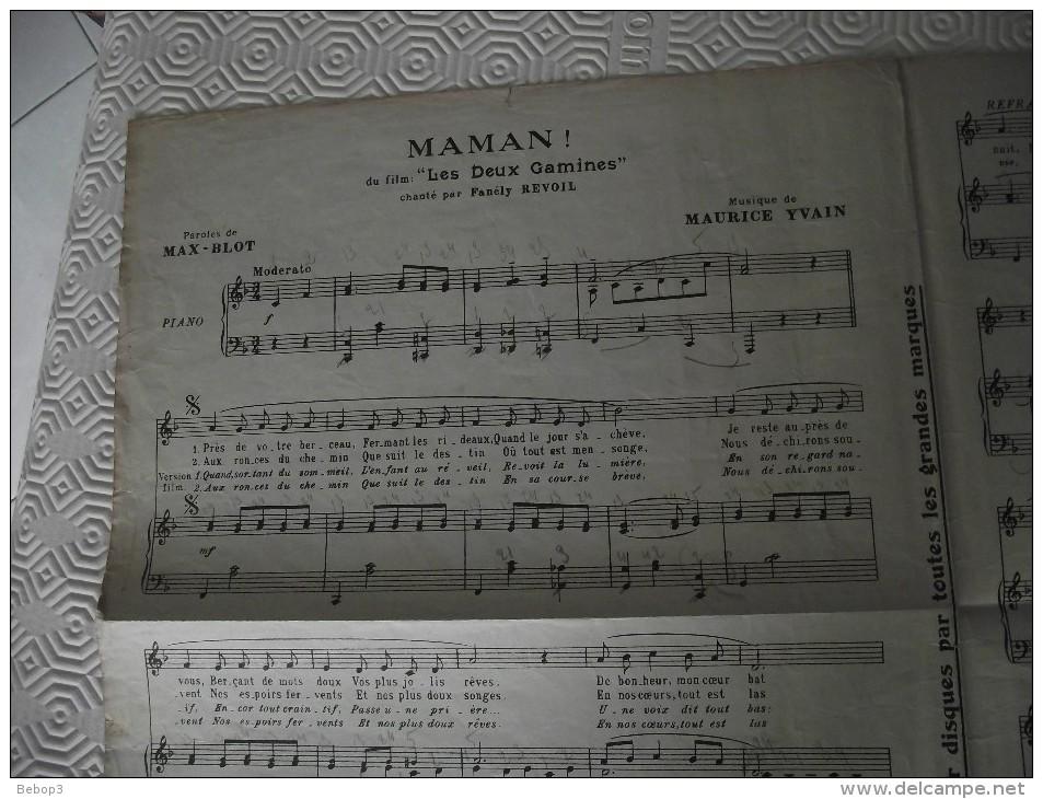 Partition: Maman! Du Film Les Deux Gamines, éditions Joubert - Musique & Instruments