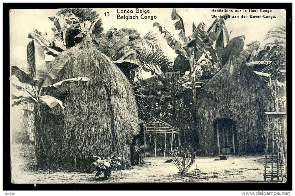Cpa Du Congo Belge -- Habitations Sur Le Haut Congo   LIOB100 - Congo Belge - Autres