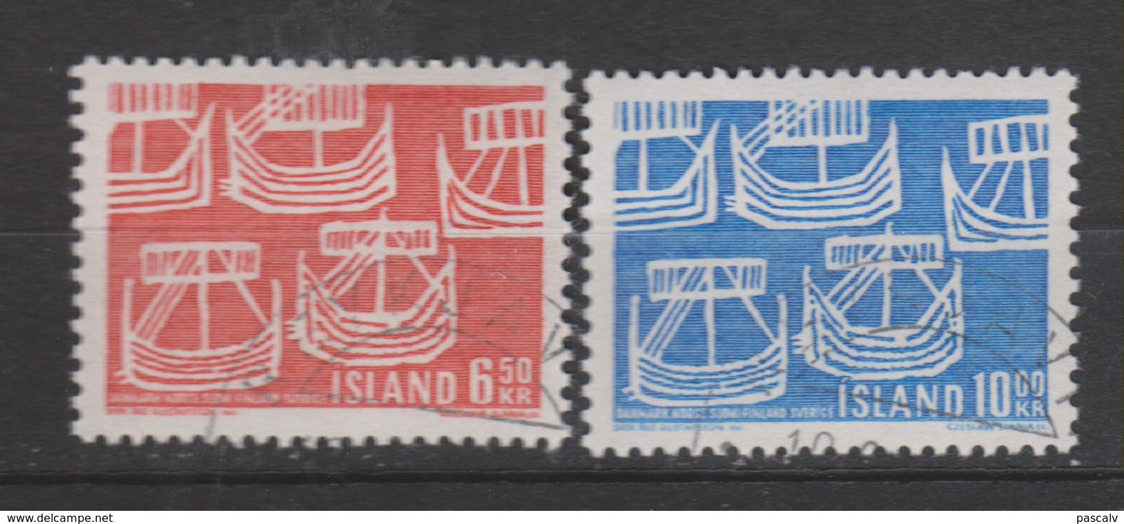 Yvert 381 / 382 Oblitéré - 1944-... Republique