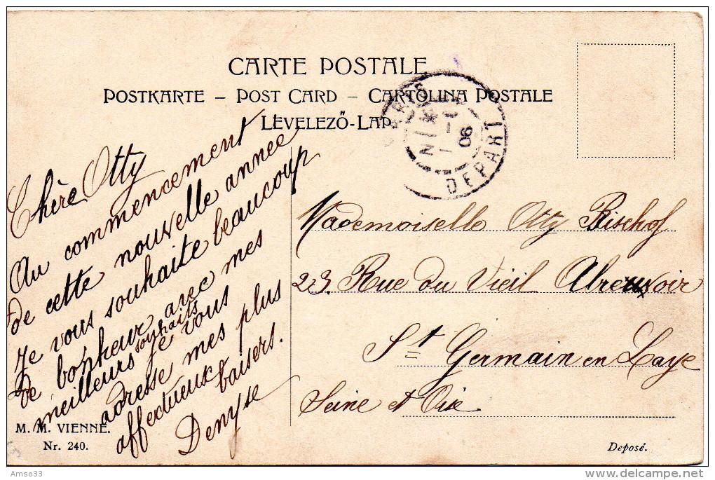 1913. CPA ILLUSTRATEUR. EN ROUTE POUR UNE HEUREUSE ANNEE. - Illustrateurs & Photographes