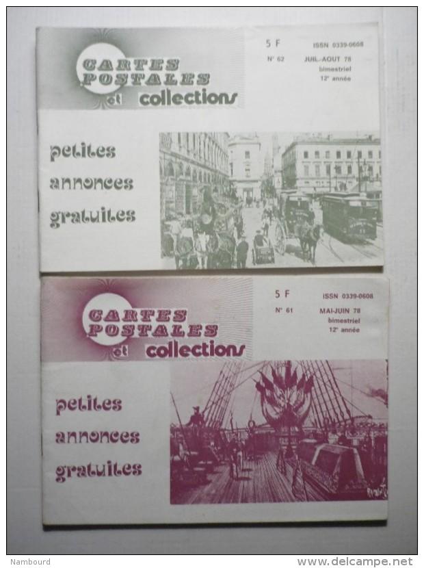 Cartes Postales Et Collections N°57 SEPTEMBRE OCTOBRE 1977 0 N°61 Mai Juin 1978 - Français
