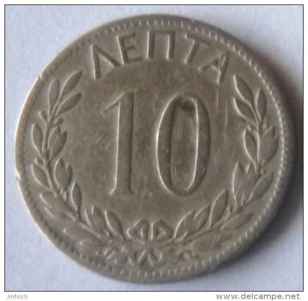 MONEDA DE 10 LEPTA DE GRECIA DE 1895 - Grecia