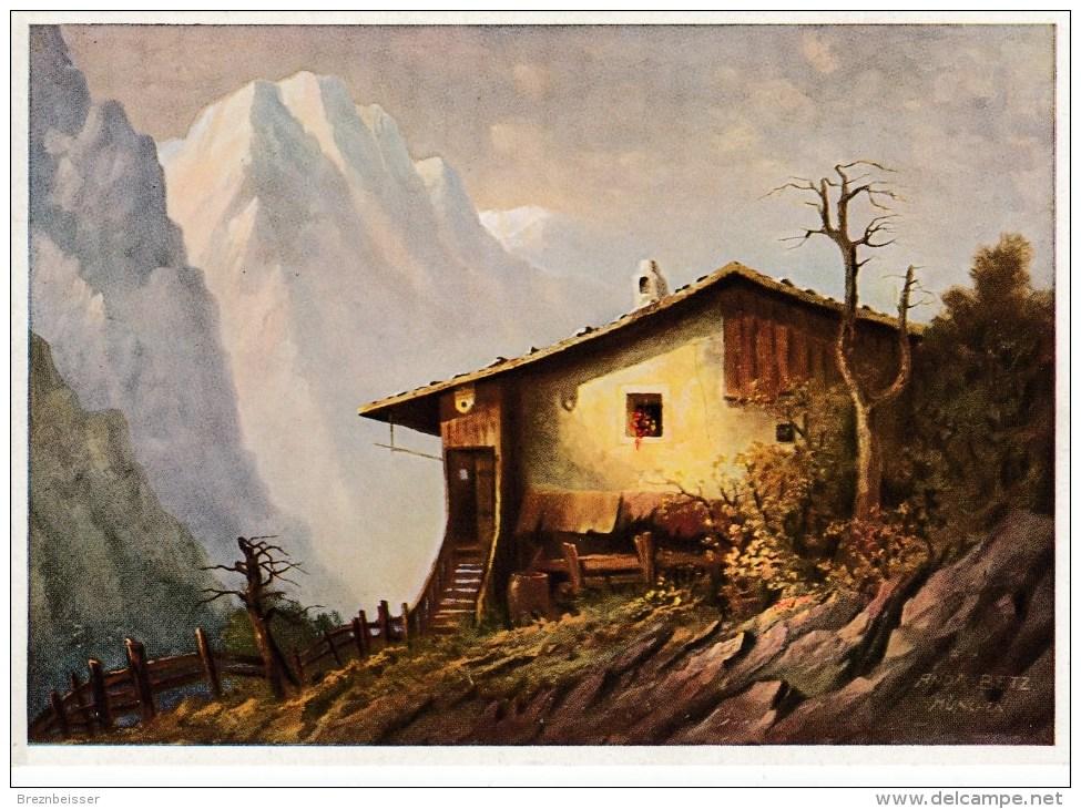 Künstler AK A. Betz - Der Sonnenhof - Karte N. Gel - Künstlerkarten