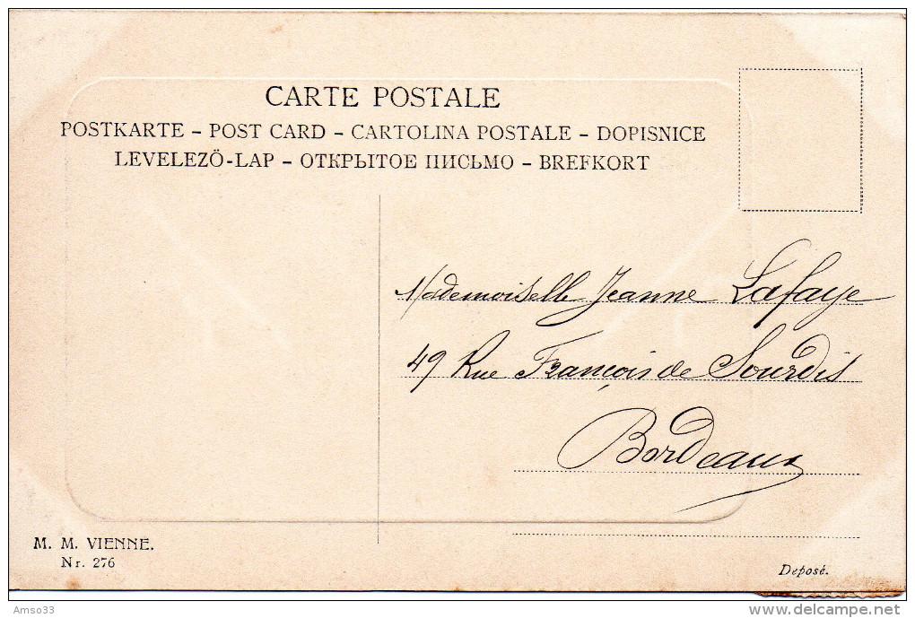 1933. CPA VIENNE ILLUSTRATEUR. JEUNE FEMME AU BOUQUET - Illustrateurs & Photographes